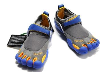 Vibram Five Fingers KSO Grey-Blue Men Shoes_01
