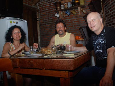 Jantar no rancho Ventania
