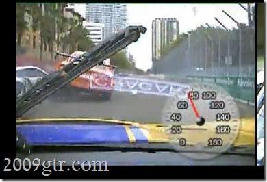GTR Running Over Porsche