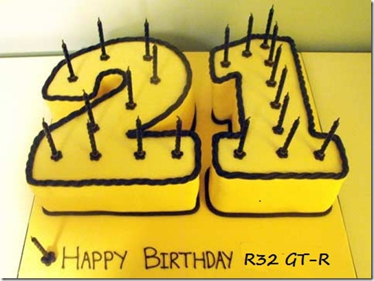 R32 -21 years old Cake