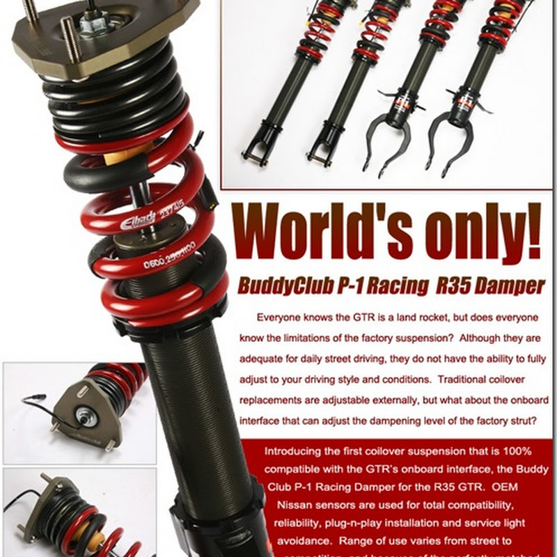 Buddy Club P1 Coil Overs For GT-R