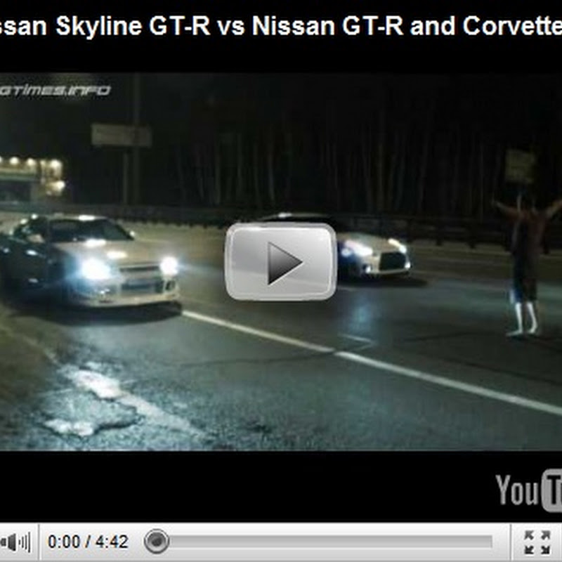 Nissan Skyline GT-R vs GT-R and ZR1 vs GT-R