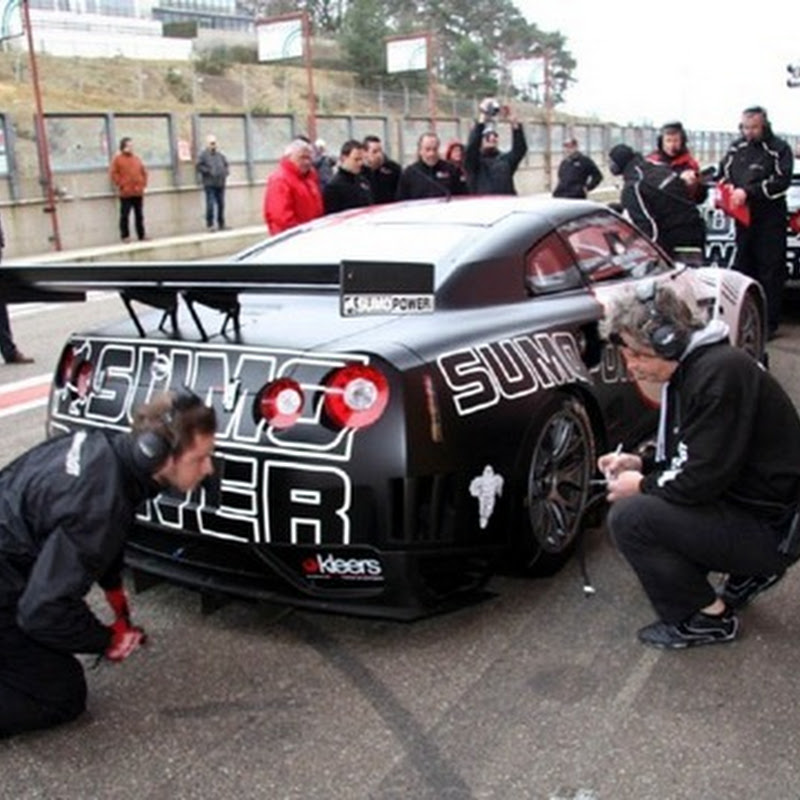 SUMO Power Nissan GT-R GT1 Test at Zolder Cirucit