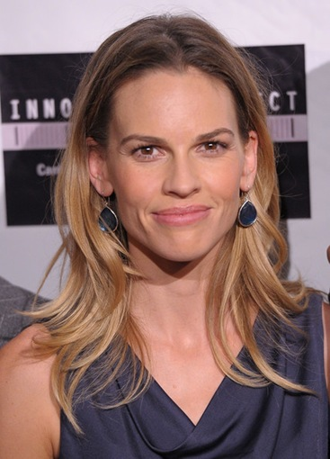 Hillary Swank promoting her latest movie 'Conviction'