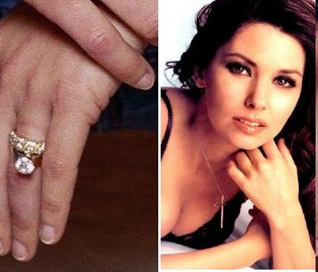 Shania Twain engagement ring