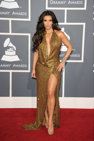 Kim Kardashian at Grammy 2011