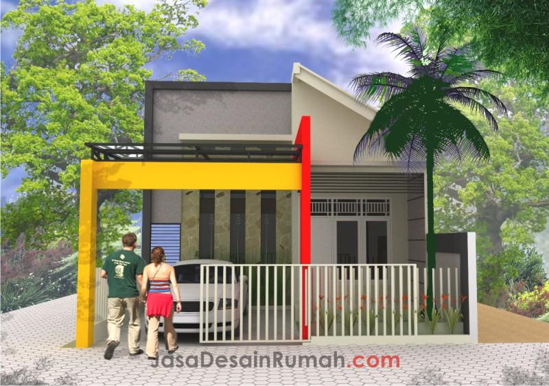 Rumah Tropis Minimalis Sederhana di Jakarta