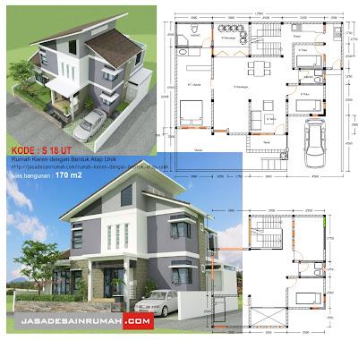 rumah keren dengan bentuk atap unik jasa desain rumah