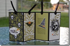 Halloween Bookmark Gift Open