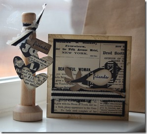 Clothespin Decor Item and 3 x 3 Card