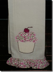 Cupcake Hand Towel Folded View