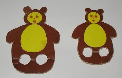 Картонные мишки для пальчиков
