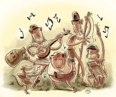 The Mullets (Jug Band) by Mike Maihack
