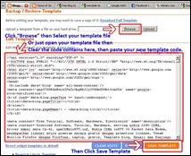 edit template code