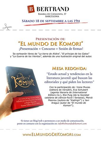 """Presentación de """"El mundo de Komori"""""""