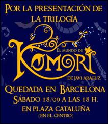 """Quedada """"El mundo de Komori"""" en Barcelona"""