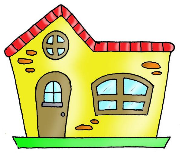 Colorear casas para ni os - Imagenes infantiles de casas para colorear ...
