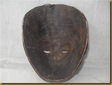 Topeng kayu kuno 2 - sisi dalam