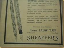 Kertas Iklan Sheaffer's - bawah