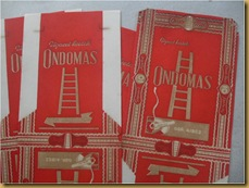 Kertas rokok Ondomas - old cigarette paper collectible