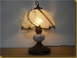 Lampu meja keramik - nyala