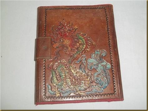Tas buku kulit Ko yan Koei - lukisan singa