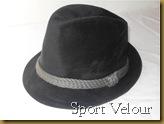 Topi Fedora sport velour hitam