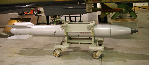 Conventional bunker buster Guided Bomb Unit GBU-27. B61 bunker buster bomb.