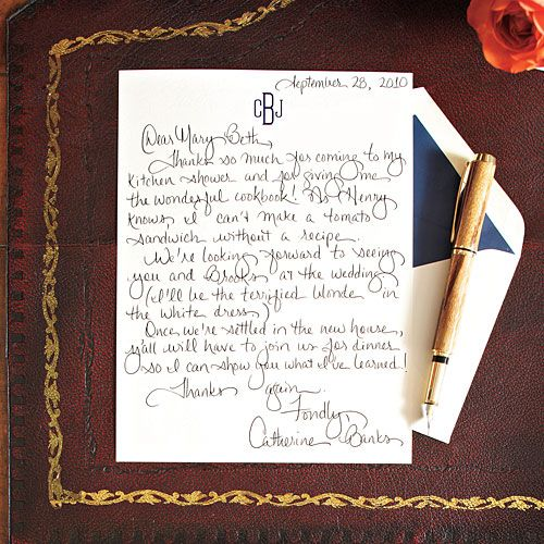 Southern Style Living How To Write a Charming Thank You Note – Thank You Note for Gift