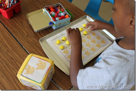 Education Cubes: Crown Grid Game