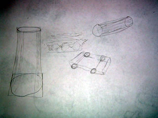 Drawing practice of cylinders and axles
