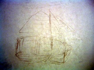 The sailboat I drew last time