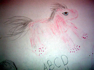 Drawing of a Webkinz Pink Pegasus
