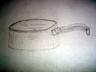 a small cooking pot