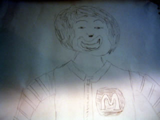 Sketch of Ronald McDonald