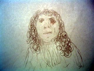Sketch of Antonie van Leeuwenhoek