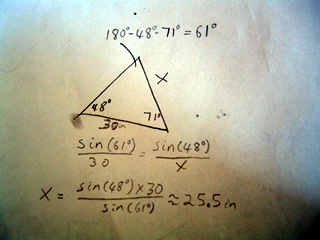 example of the law of sines