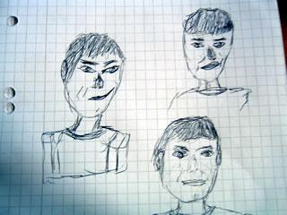 3 random portraits