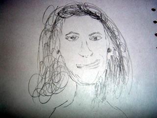 sketch of Diana Ross