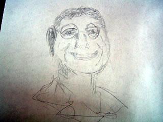 Sketch of Michael Crichton