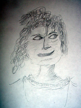 Sketch of Régine Chassagne