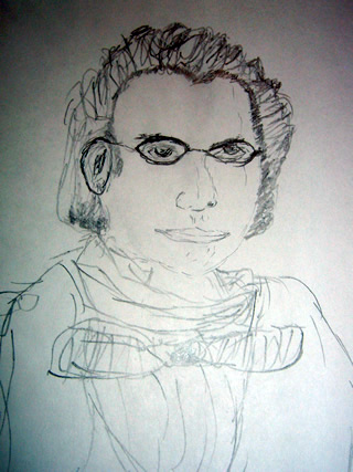 Sketch of Franz Schubert
