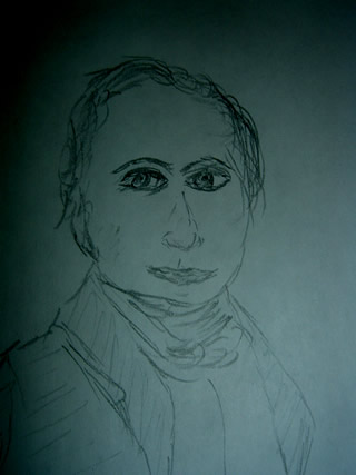 Sketch of Frederic Chopin