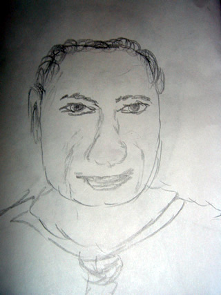 Sketch of Denham Harman