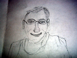 Sketch of Eric Schmidt