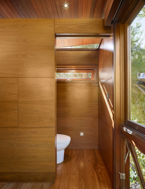 wooden treehouse design minimalist interior bathroom