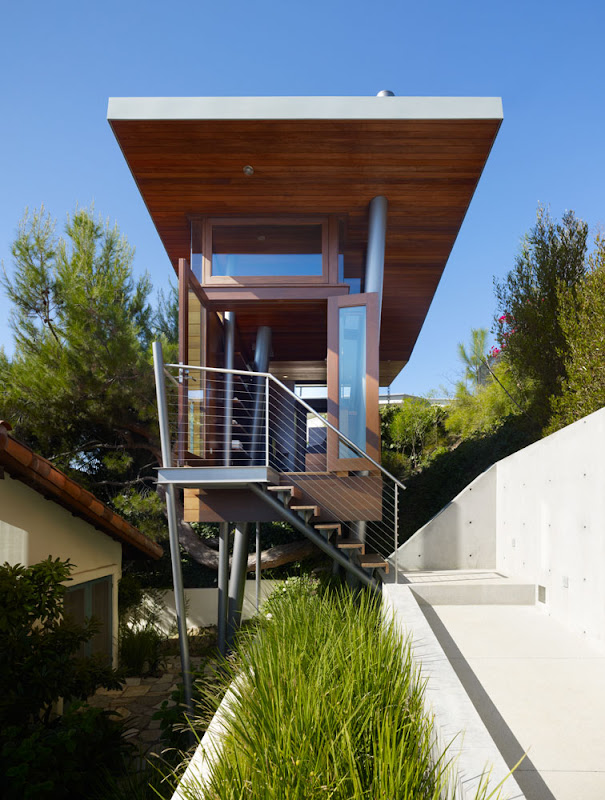 wooden treehouse design minimalist architecture exterior