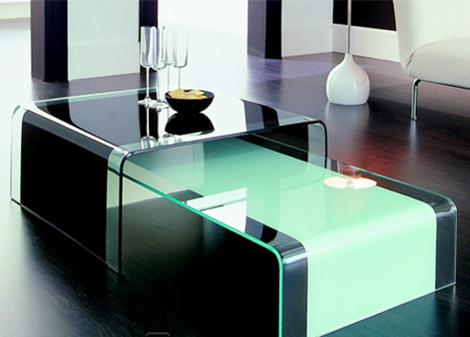 Italian Furniture Contemporary Glass Coffee Table Design