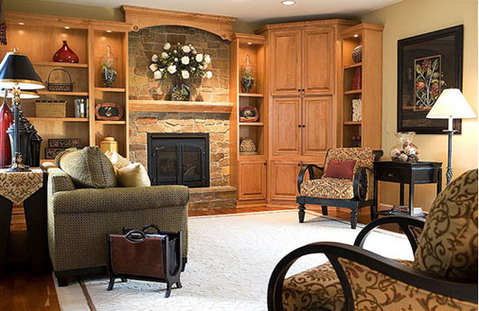 Decorating Ideas Family Room Design Interior With Fireplace - Home ...