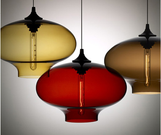 blown glass pendants light